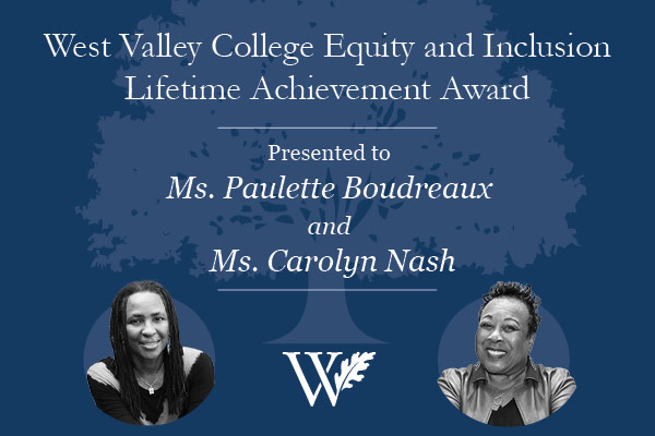 Award ceremony for Paulette Boudreaux and Carolyn Nash