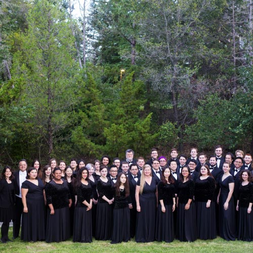 Choral students on West Valley College grass