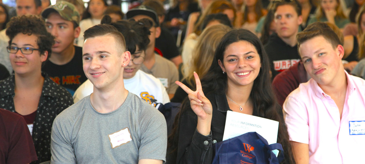 Students smiling during Convocation