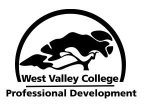 West Valley College Professional Development