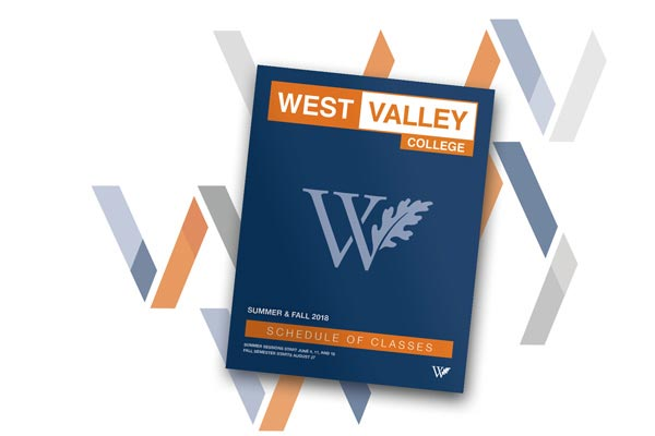West Valley College Summer/Fall 2018 Class Schedule Cover