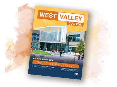 West Valley College Summer/Fall 2020 Class Schedule Cover