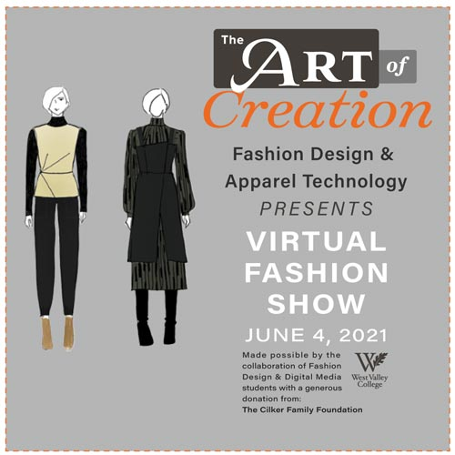Art of Creation graphic with event details and fashion mannequins