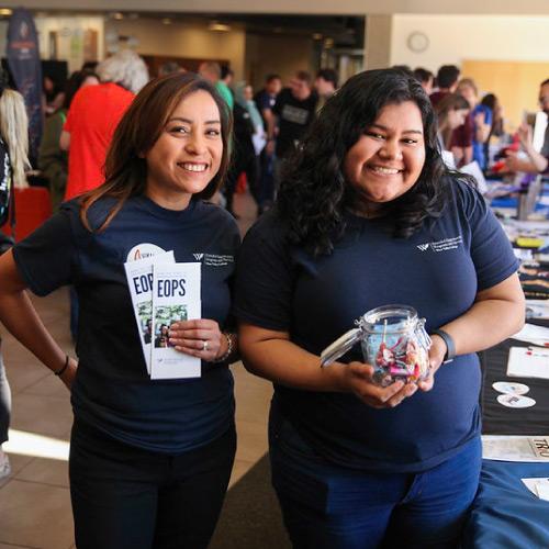 Student representatives during campus event