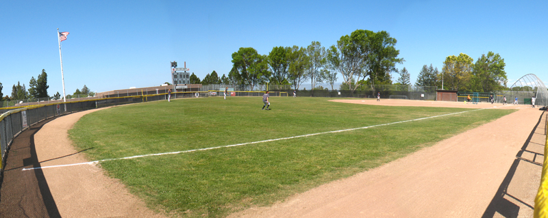 Softball field at West Valley College
