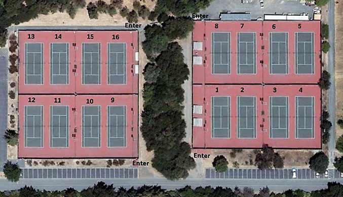 Tennis Courts at West Valley College