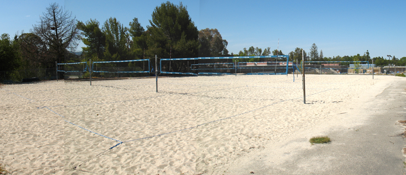 Sand Volleyball courts at West Valley College