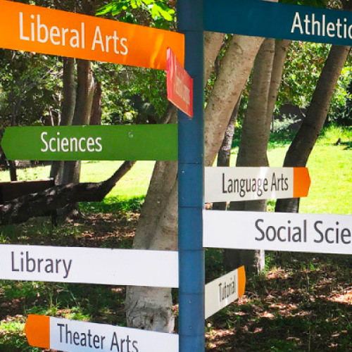 Signs at West Valley College