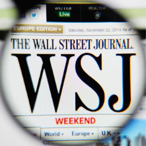 Wall Street Journal under magnifying glass