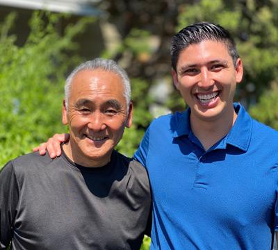 Randy Fujishin with son Jared Fujishin – multiple generations of Communication Studies instructors.