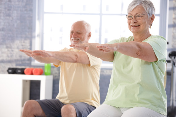 Older adults stretching