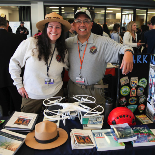 Park Management instructors at Open House table