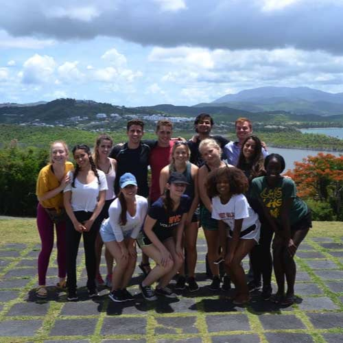 West Valley Service Learning students in Puerto Rico